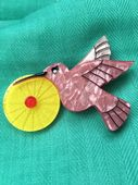 Hummingbird Pin by Erstwilder - The Humble Hummingbird Brooch